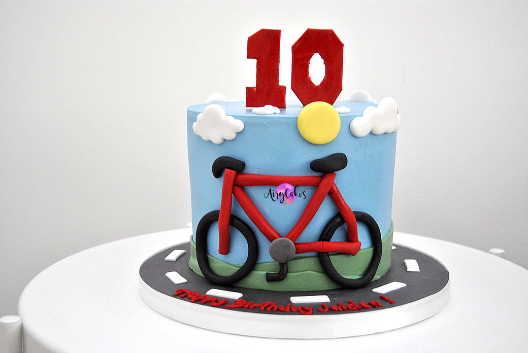 Bicycle Themed Cake