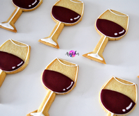 Wine Glass Iced Cookies